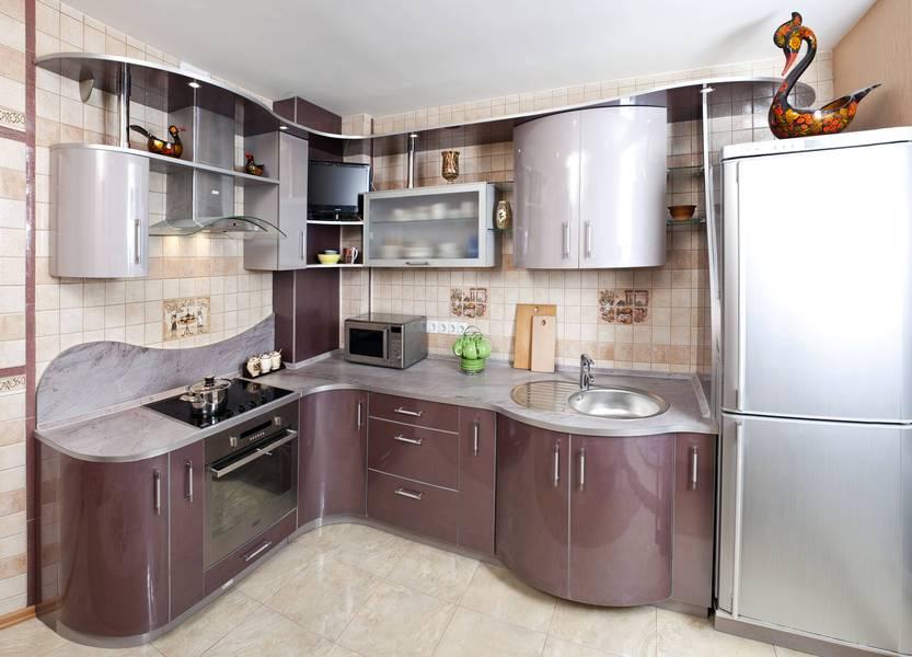 кухня фото радиусные фасады